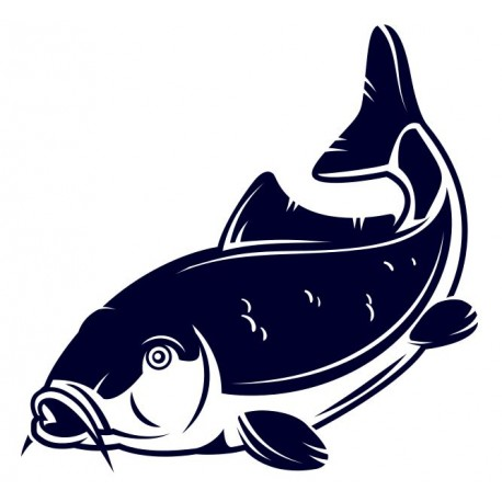Nálepka na auto pro rybáře- kapr- rybaření 02