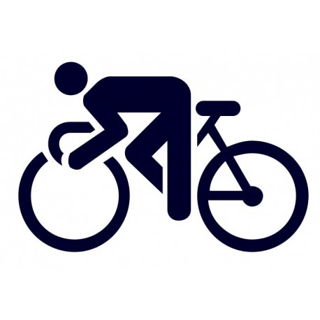 Samolepka na auto- logo cyklistika