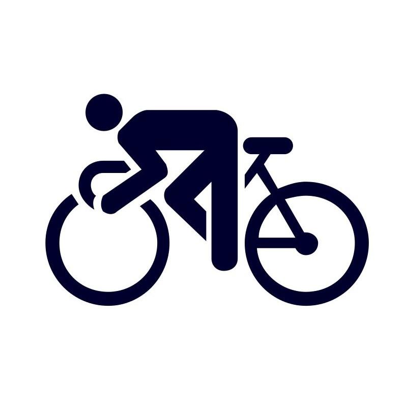 65f11aa03c Samolepka na auto- logo cyklistika - fajnelepky.cz