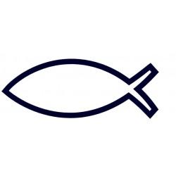 Samolepka na auto-rybička 03- křesťanský symbol