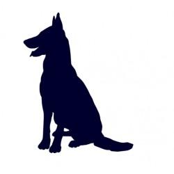 Samolepka na auto-pes v autě - Německý ovčák 05